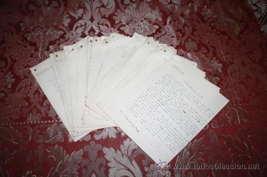 Manuscritos antiguos: INTERESANTE LOTE DE MANUSCRITOS ORIGINALES DE PERE ELIAS I BUSQUETA - AÑOS 34, 35 Y 36 - FIRMADOS - Foto 51 - 35687475