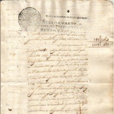 Manuscritos antiguos: 1743 FISCAL DE OFICIO DE 4 MRS. FELIPE V. DOCUMENTO MANUSCRITO PAPEL SELLADO TIMBRADO. Lote 35844760