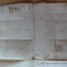 Manuscrits anciens: PERGAMINO LERMA TORDOMAR (BURGOS) LIMITES PUEBLOS DEL VALLE DE ARLANZA. Lote 35877791
