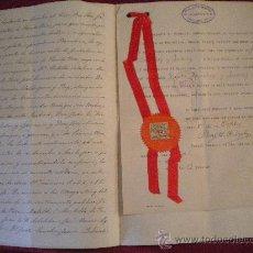 Manuscritos antiguos: ESCRITURA MANUSCRITA Y FIRMADA POR EL CONSUL GENERAL DE LOS ESTADOS UNIDOS, BARCELONA 8-10-1907.. Lote 36087278