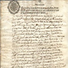 Manuscritos antiguos: 1642 FISCAL 4º DE 10 MRS. MUY NITIDO. FELIPE IV DOCUMENTO MANUSCRITO TIMBRADO. PAPEL SELLADO. Lote 36092291