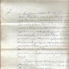 Manoscritti antichi: 1920 CALAHORRA (LA RIOJA). DOCUMENTO MANUSCRITO. CONTRATO PRIVADO DE VENTA DE TIERRAS. Lote 36094235