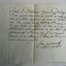 Manuscritos antiguos: 1843 LA BAÑEZA RECIBO POR ENTREGA DE RENTA EN ESPECIE. Lote 36111834