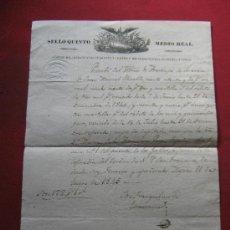 Manuscritos antiguos: DOCUMENTO DE RECIBI DEL ARZOBISPO DE CESAREA - FIRMADO EN MEXICO EN 1845. Lote 36229197