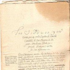 Manuscritos antiguos: LEGAJO CON PAPELES DE NOBLEZA DE LOS SRES. RÍOS. Lote 36330553