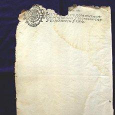 Manuscritos antiguos: 1641. SELLO FISCAL. PAPEL TIMBRADO SELLADO. SELLO 4º. 10 MARAVEDIS. FELIPE IV. EN BLANCO-TIMBROLOGIA. Lote 80510922
