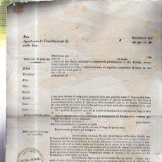 Manuscritos antiguos: PASAPORTE PARA LA ISLA DE CUBA DESDE TELDE, 1845. Lote 36568532