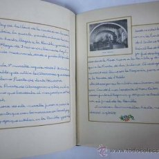 Manuscritos antiguos: BARCELONA. MONUMENTOS HISTÓRICOS - ALBUM MANUSCRITO CON FOTOGRAFÍAS PEGADAS - 1953-1954. Lote 36587412