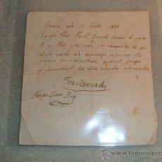 Manuscritos antiguos: RIERA (TARRAGONA) - JOSE RULL A JOSE MERCADE - RIERA 17 ENERO 1884. Lote 36646010