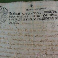 Manuscritos antiguos: MERODIO-PEÑAMELLERA. OVIEDO. 1778. AUTORIZACIÓN CONCEDIDA POR DON DAMIAN DE LOS REYES. PAPEL SELLADO. Lote 36787914