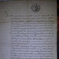 Manuscritos antiguos: MANUSCRITO CONTRATO MATRIMONIAL SELLO RELIEVE ISABEL II 1850. Lote 36995410