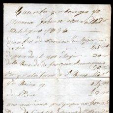 Manuscritos antiguos: *** INTERESANTE DOCUMENTO MANUSCRITO. 1846 LISTADO DE CUENTAS ***. Lote 37187125