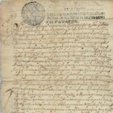 Manuscritos antiguos: AÑO 1704 - Nº 69 DOCUMENTO MANUSCRITO - S. XVIII. Lote 37237503