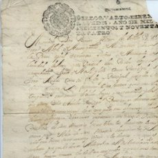Manuscritos antiguos: AÑO 1694 - Nº 78 DOCUMENTO MANUSCRITO - S. XVII. Lote 37237715