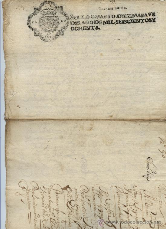 Manuscritos antiguos: AÑO 1680 - Nº 68 DOCUMENTO MANUSCRITO - S. XVII - Foto 2 - 37270119