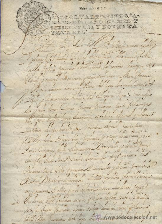 AÑO 1694 - Nº 66 DOCUMENTO MANUSCRITO - S. XVII (Coleccionismo - Documentos - Manuscritos)