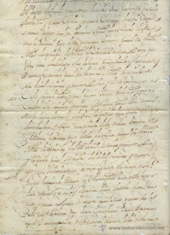 Manuscritos antiguos: AÑO 1694 - Nº 66 DOCUMENTO MANUSCRITO - S. XVII - Foto 2 - 37270175