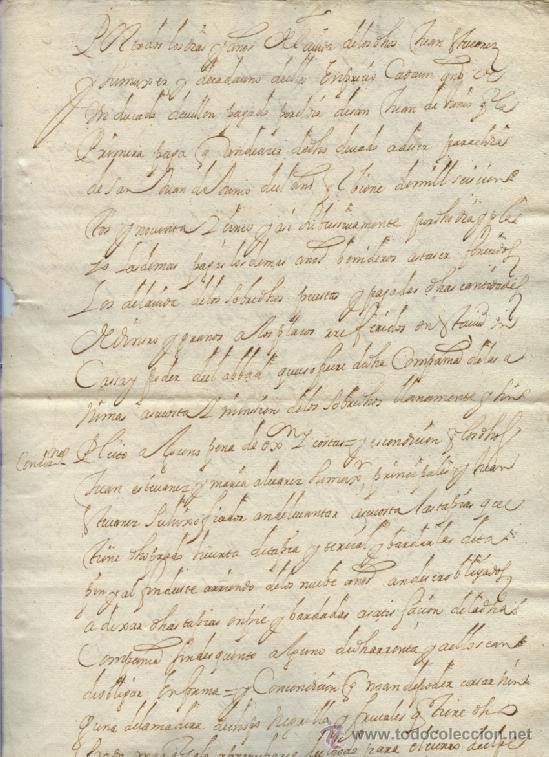 Manuscritos antiguos: AÑO 1694 - Nº 66 DOCUMENTO MANUSCRITO - S. XVII - Foto 3 - 37270175