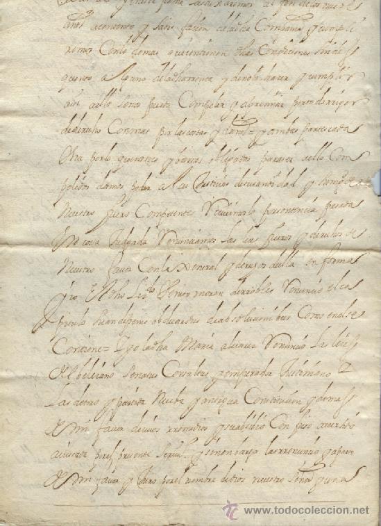 Manuscritos antiguos: AÑO 1694 - Nº 66 DOCUMENTO MANUSCRITO - S. XVII - Foto 4 - 37270175