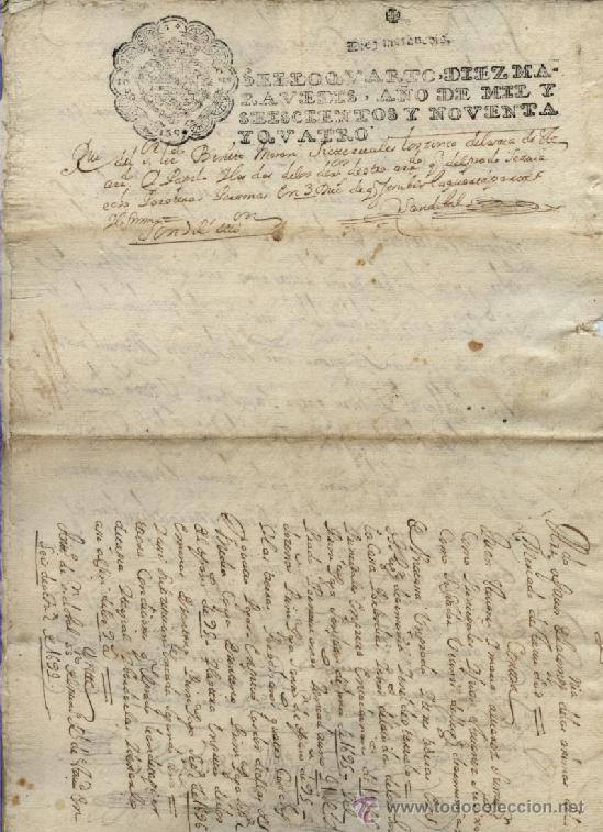 Manuscritos antiguos: AÑO 1694 - Nº 66 DOCUMENTO MANUSCRITO - S. XVII - Foto 6 - 37270175