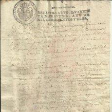 Manuscritos antiguos: FAMILIA CEBALLOS-ZÚÑIGA - ALFARO - BOZA. PARTIDAS SACRAMENTALES 1803.. Lote 37380150