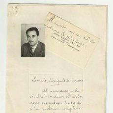 Manuscritos antiguos: FRAGMENTO MANUSCRITO Y FIRMADO, DE LEONCIO PANCORBO, POR JOSÉ MARÍA ALFARO POLANCO.. Lote 37819306