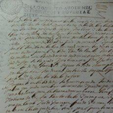 Manuscritos antiguos: LINARES MINISTROS CON Y SIN VARA ALTA. Lote 37924688