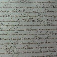Manuscritos antiguos: RENTAS GARCIEZ. Lote 37925666