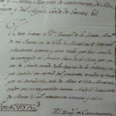 Manuscritos antiguos: PAGO DE ACEITE MENJIBAR. Lote 37926821