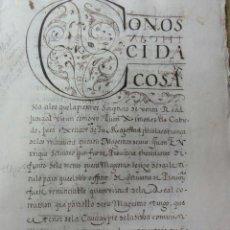 Manuscritos antiguos: VENTA REAL JUDICIAL 1595 ALTAMIRANO. Lote 38212797