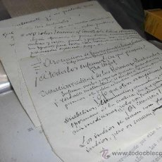 Manuscritos antiguos: LIBRO MANUSCRITO ORIGINAL ALICANTE DOCTOR ANDRES GASCUÑANA 5 PAGINAS. Lote 75100547
