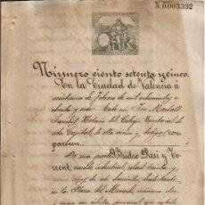 Manuscritos antiguos: 1887. FISCAL SELLO 3º DE 50 PTS. DOCUMENTO MANUSCRITO TIMBRADO. PAPEL SELLADO FISCAL. Lote 38478491