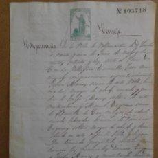 Manuscritos antiguos: MANUSCRITO DE 1872. Lote 38653865
