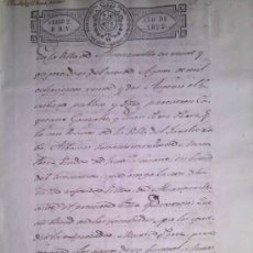 Manuscritos antiguos: RARISIMO MANUSCRITO DE LA VILLA DE ALCANTARILLA MURCIA DEL AÑO 1822. Lote 38914079