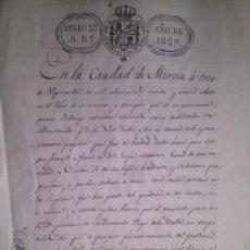 Manuscritos antiguos: RARISIMO MANUSCRTO DE LA DIPUTACION DE NONDUERMAS MURCIA DEL AÑO 1829. Lote 38914093