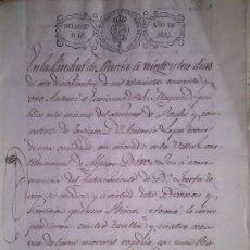 Manuscritos antiguos: RARISIMO MANUSCRITO DE LA VILLA CONSTITUCIONAL DE ALJUCER MURCIA 1841. Lote 38914121