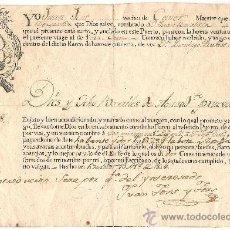Manuscritos antiguos: DOCUMENTO DE MARINA DEL PUERTO DE BARCELONA DE FECHA 13 DE ABRIL DE 1804. Lote 38929008