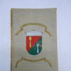 Manuscritos antiguos: COCINA: CURIOSO MANUSCRITO EN PERGAMINO MODERNO CON DIBUJOS. POESÍAS JOCOSAS COMIDA . 22X37. Lote 38937766