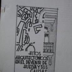 Manuscritos antiguos: HITOS ARQUITECTONICOS EN EL DEVENIR DE HUELVA Y SUS CAUSAS.PONENCIA DE ALFONSO MARTINEZ CHACON.. Lote 38955447