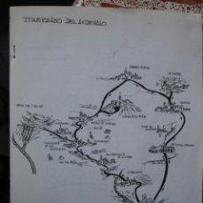 Manuscritos antiguos: ITINERARIO DEL ANDEVALO HUELVA.1985 ALFONSO MARTINEZ CHACON.. Lote 38955469