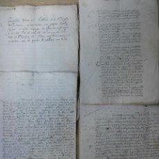 Manuscritos antiguos: SAN ANDRES DEL ALDEA PALENCIA. Lote 39078587