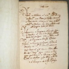Manuscritos antiguos: INFORMACION DE NOBLEZA (1 MANUSCRITO) IDEM DE LIMPIEZA DE SANGRE (2 MANUSCRITOS). MÁLAGA. Lote 39242179