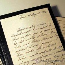 Manuscritos antiguos: EPISTOLARI D'UNA FAMÍLIA BENESTANT DE REUS D'AGOST DEL 1935 A ABRIL DEL 1936 - (BAIX CAMP - REUS). Lote 39216069