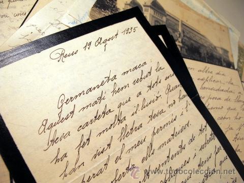 Manuscritos antiguos: EPISTOLARI D'UNA FAMÍLIA BENESTANT DE REUS D'AGOST DEL 1935 a ABRIL DEL 1936 - (Baix Camp - Reus) - Foto 4 - 39216069