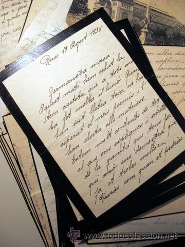 Manuscritos antiguos: EPISTOLARI D'UNA FAMÍLIA BENESTANT DE REUS D'AGOST DEL 1935 a ABRIL DEL 1936 - (Baix Camp - Reus) - Foto 6 - 39216069