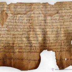Manuscritos antiguos: MANUSCRITO EN PERGAMINO DEL MARESME, BARCELONA / GUILLEM DE SOLER (1265) / VILASAR / SIGLO XIII. Lote 39466989