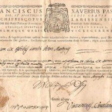 Manuscritos antiguos: DOCUMENTO ECLESIÁSTICO EN LATIN. AÑO 1792. Lote 39678451