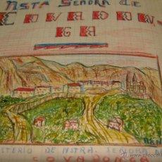 Manuscritos antiguos: CURIOSO CUADERNO ESCOLAR 1954. CON TRABAJOS Y DIBUJOS. MUY DECORATIVO Y CURIOSO.. Lote 39923079