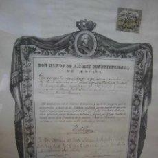 Manuscritos antiguos: DON ALFONSO XIII DOCUMENTO FIRMADO POR LA REINA REGENTE DOÑA MARIA CRISTINA EN EL AÑO 1894. Lote 40046793