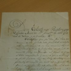 Manuscritos antiguos: ANTIGUO DOCUMENTO MANUSCRITO S. XIX LORCA MURCIA 1878. Lote 40480504